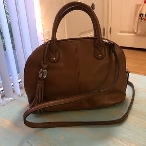 Brown Leather Tignanello Purse